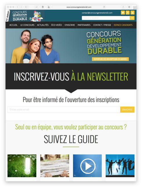 Cr ation et habillage graphique de site web newsletter for Site hotel en ligne