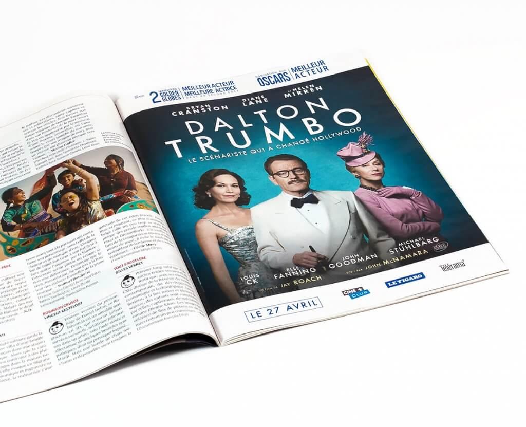 Annonce Presse Dalton Trumbo Telerama
