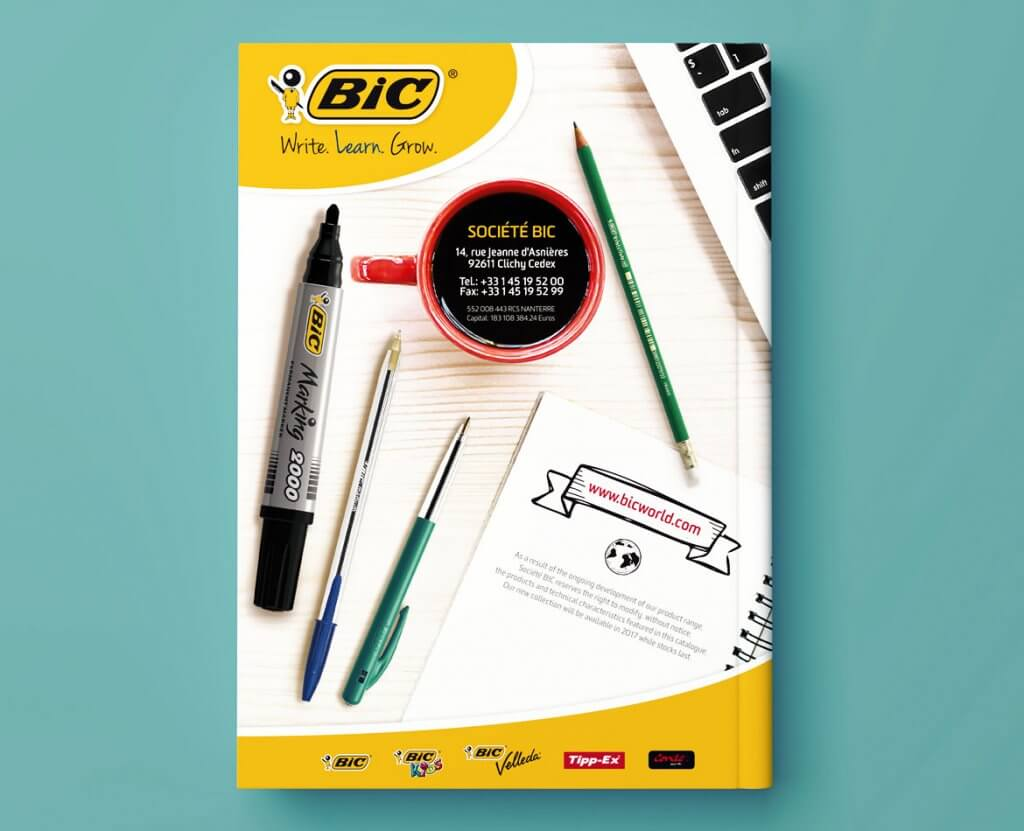Catalogue produits bic conception et mise en page for Fourniture bureau catalogue