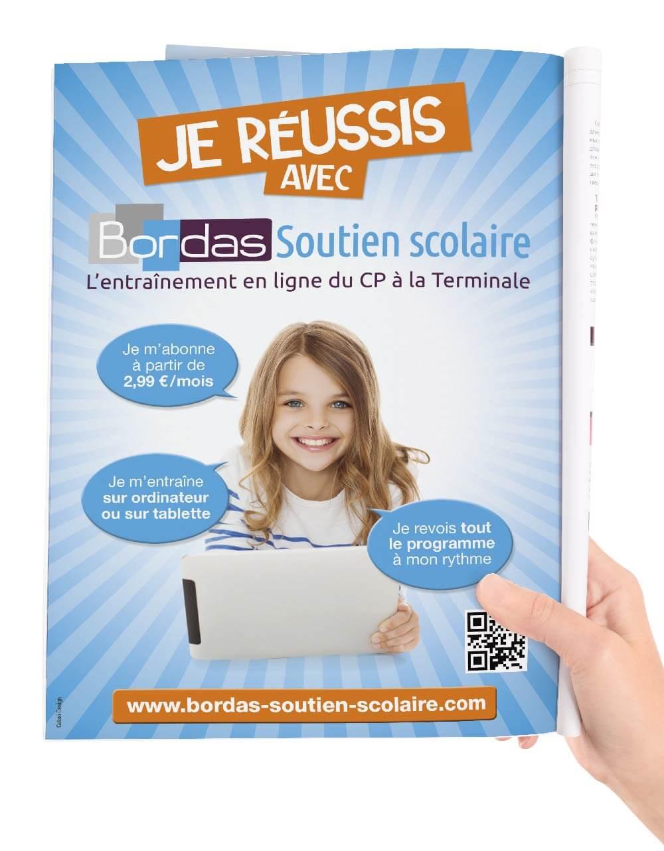 Création Annonce presse pour Bordas