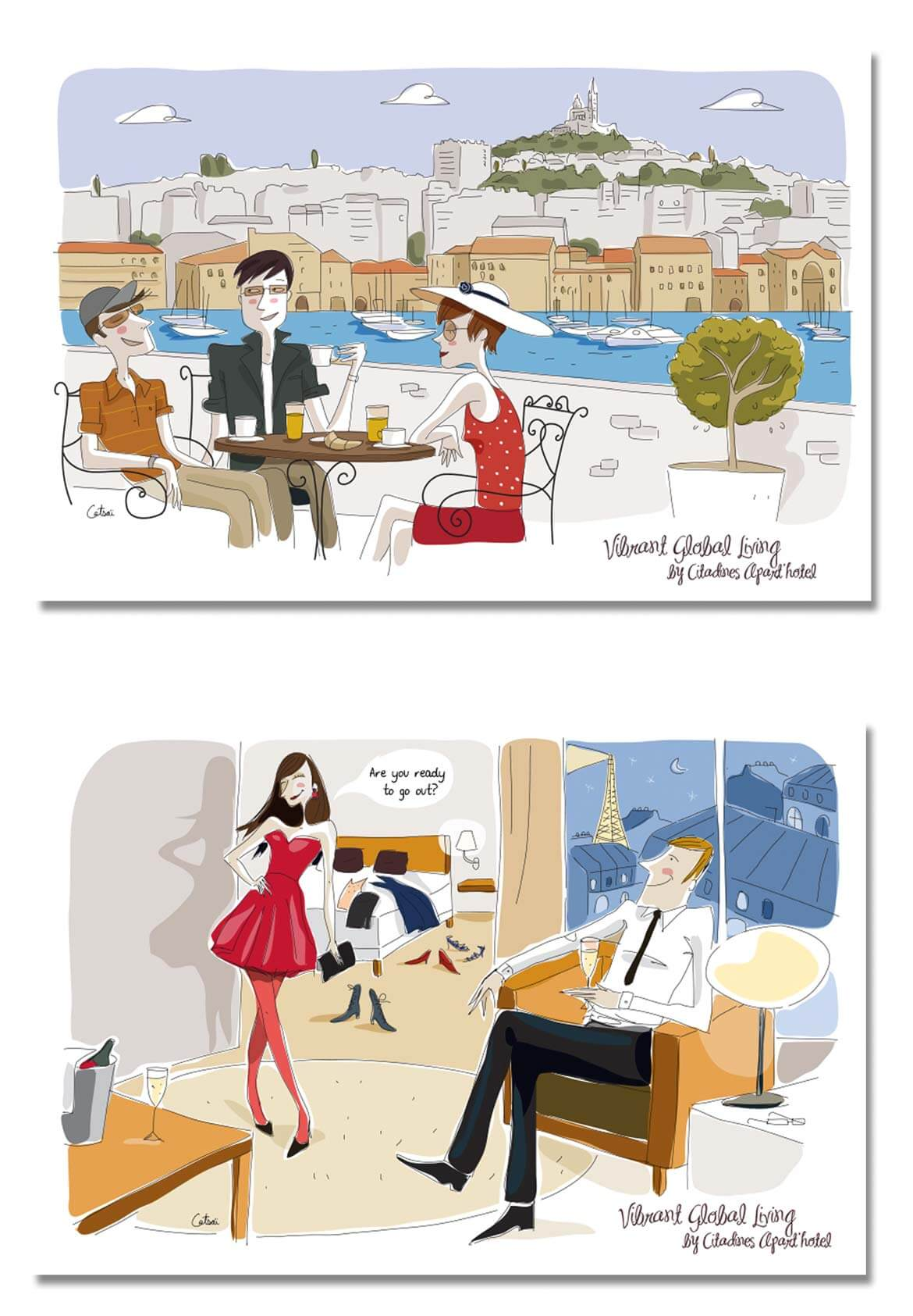 Illustrations hotels citadines