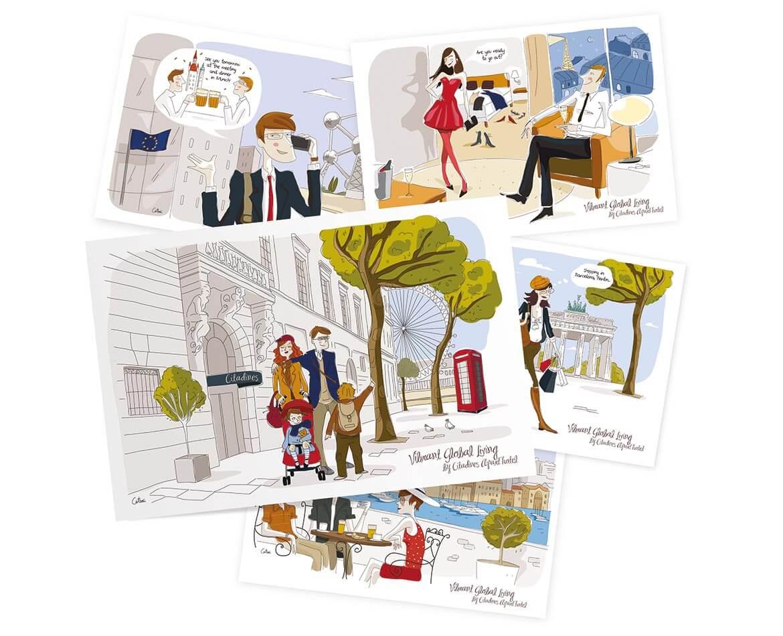 Série d'illustrations pour Ascott