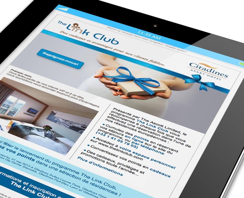 E-mailng Link club Citadines