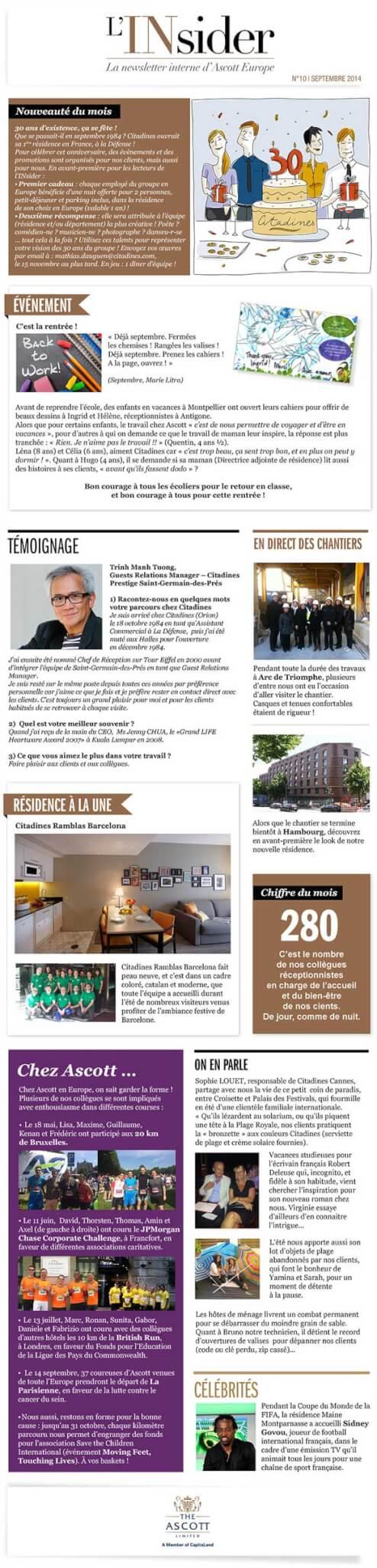 Graphiste pour newsletter