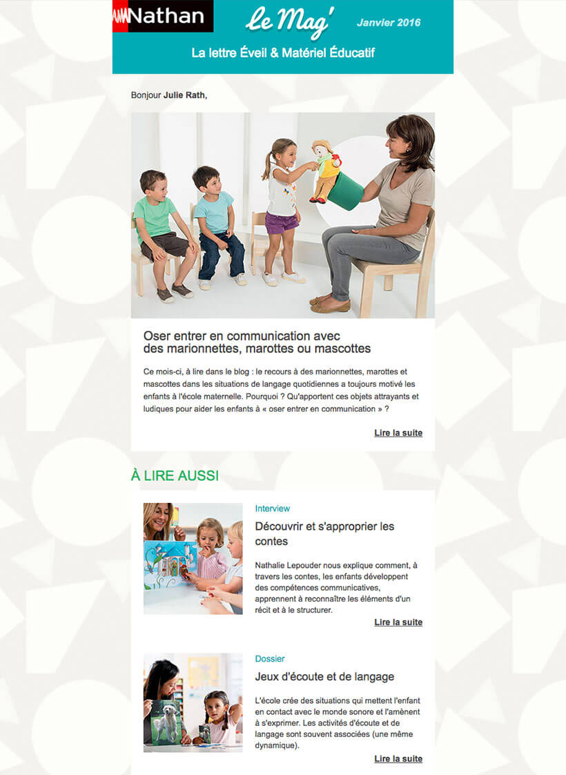 recherche freelance création News-letter
