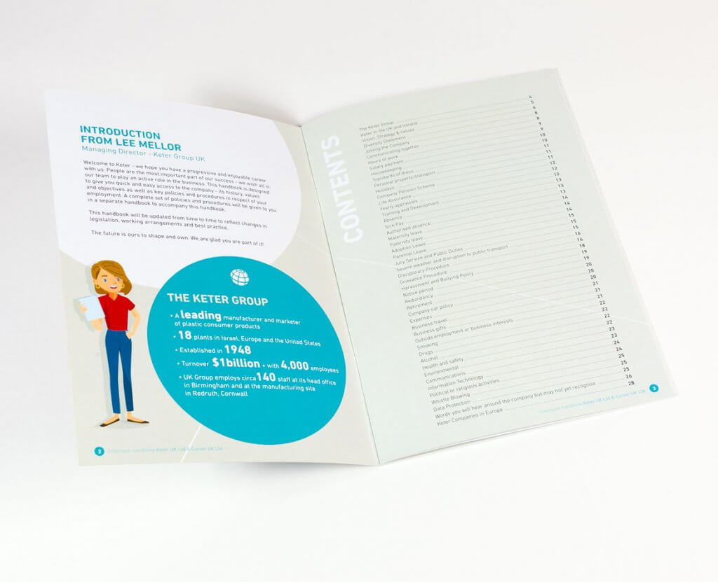 Creation brochure employeur Keter