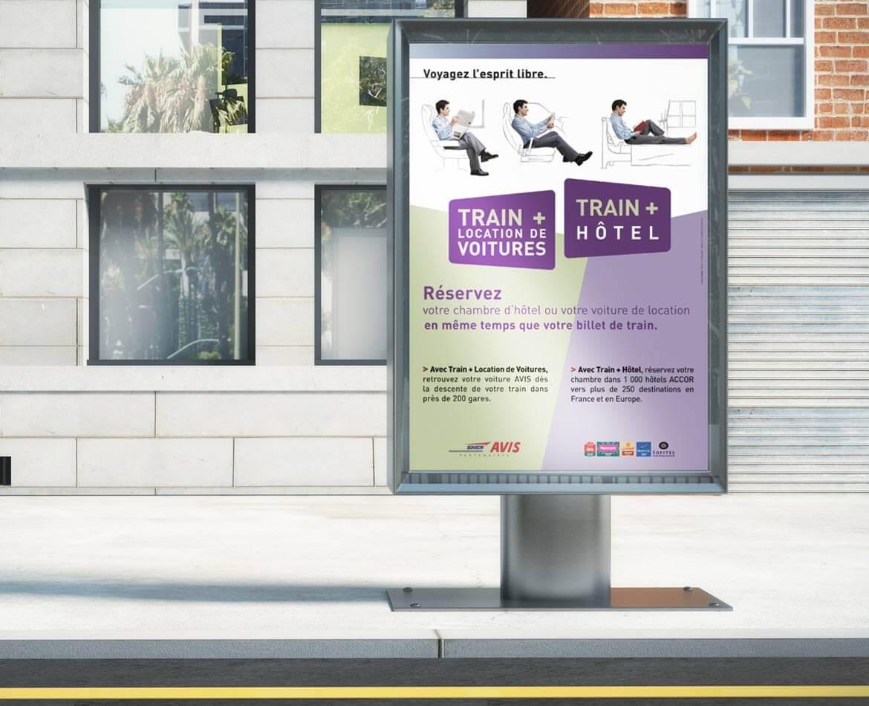 Campagne publicité train + hôtel