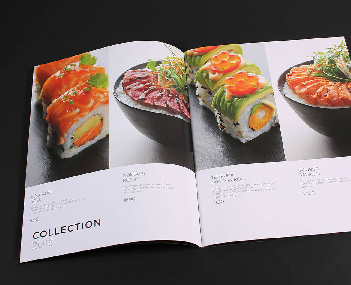 Graphiste freelance paris Sushishop