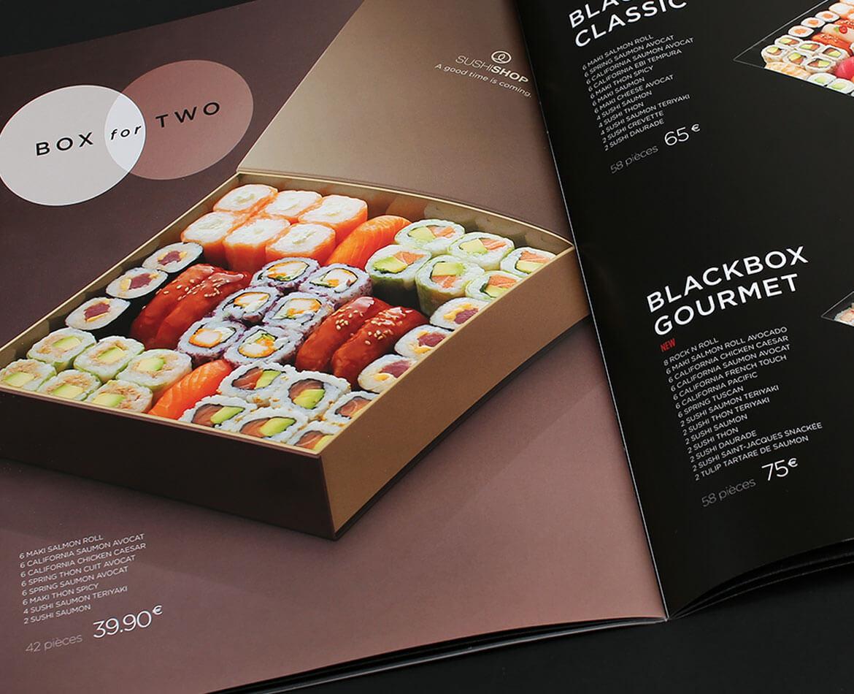 Graphiste carte menu hauts de gamme