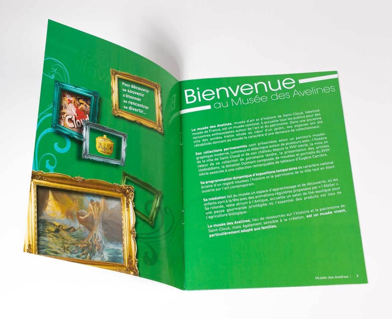Charte graphique Musée des Avelines Saint-Cloud