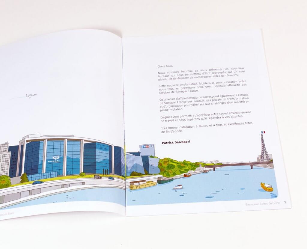 Réalisation d'un livret accueil avec illustrations