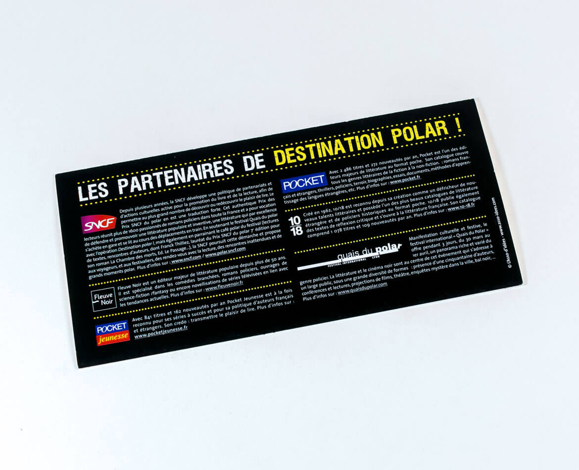 Creation pochette a billet SNCF destination polar