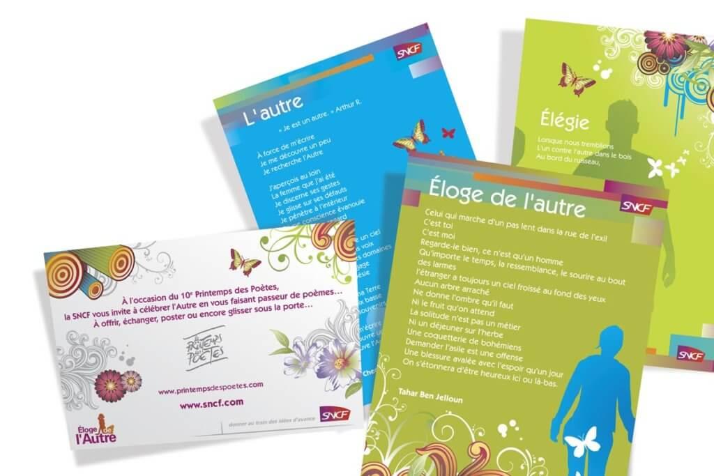Graphiste printemps des poetes SNCF
