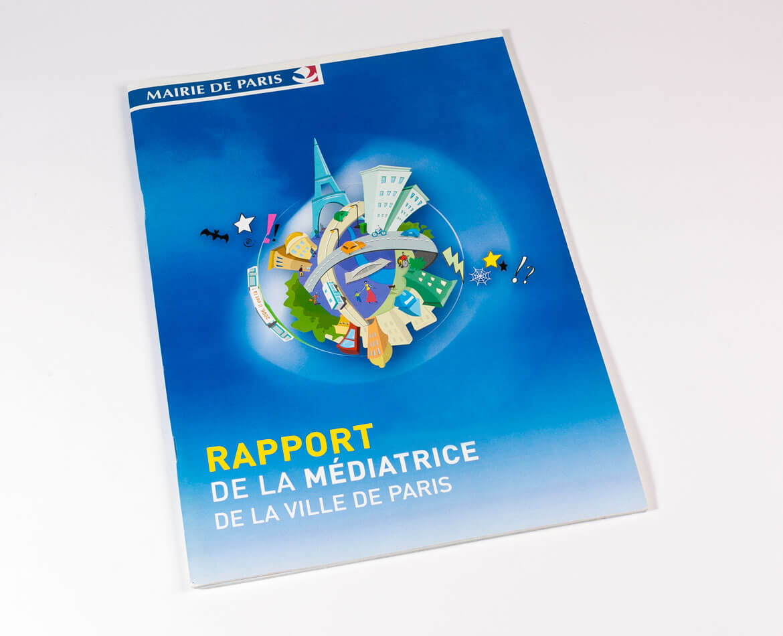 Création du rapport annuel de la Médiatrice ville de Paris