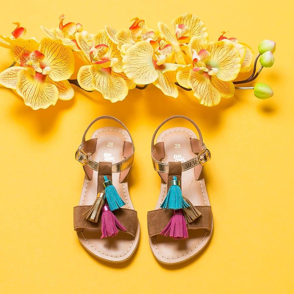 Photo Chaussure enfant stylisme fleur