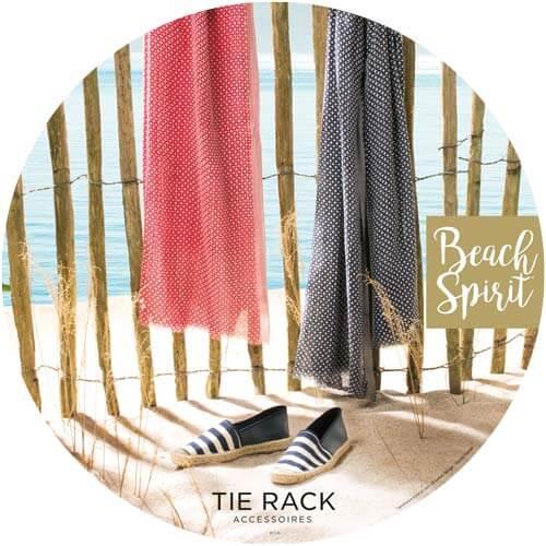 campagne publicité mode Overhead tie rack
