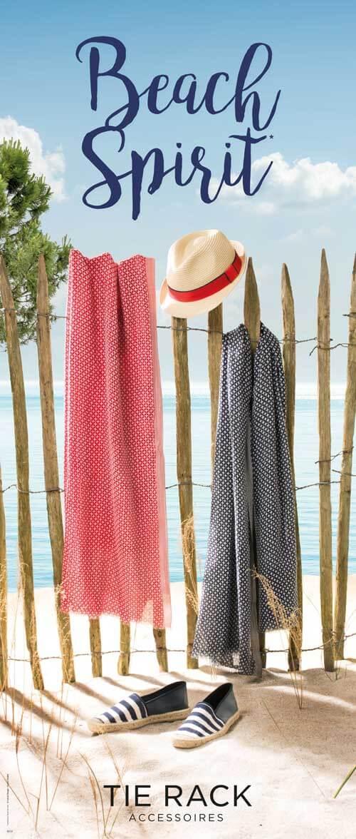 Campagne publicité mode Beach Spirit Tie Rack