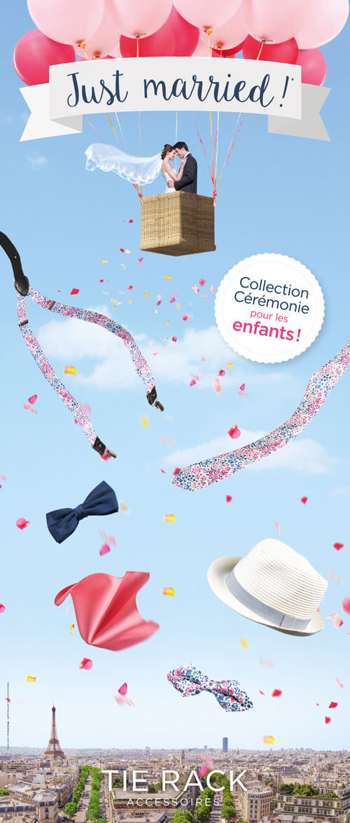 Tie-Rack Campagne Mariage | graphiste infographiste Freelance
