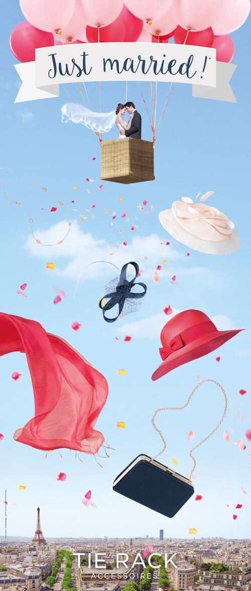 Campagne publicité mariage - Catsai Design
