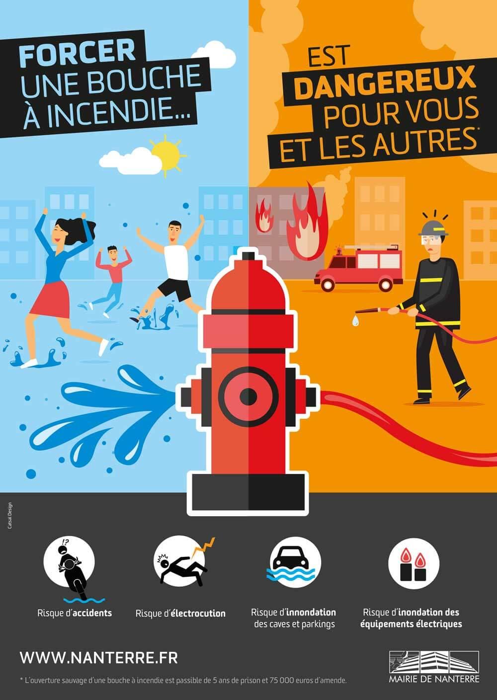 Création affiche bouche d'incendie