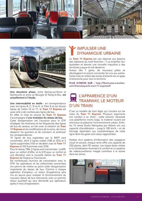 Création graphique Tram 11 SNCF