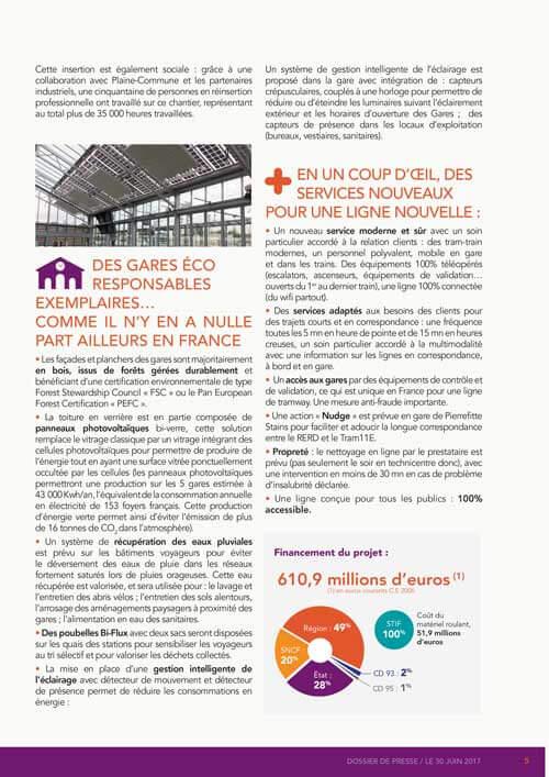 Réalisation graphique Dossier presse Tram 11 SNCF
