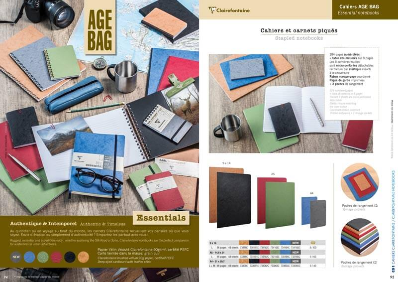 Photo catalogue produit Clairefontaine