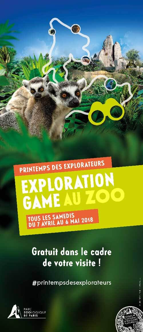 Graphiste grand format affiche zoo