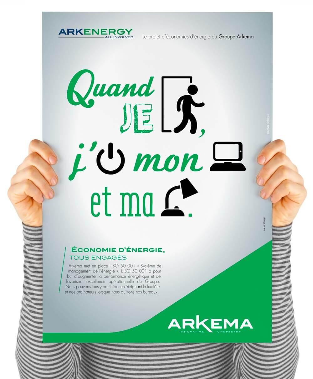 Affiche Economie energie Arkema