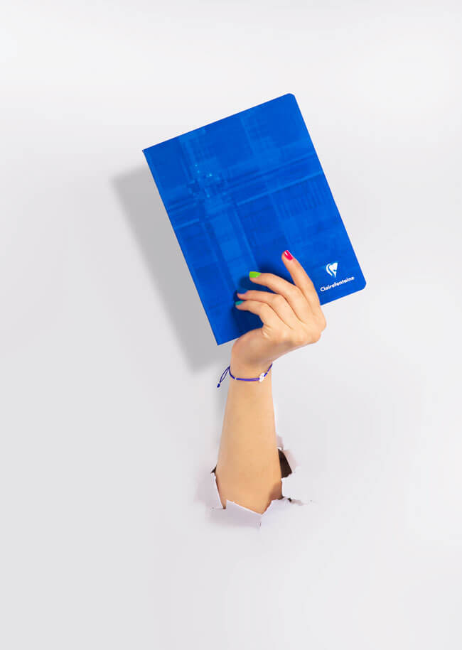 Campagne communication papeterie Clairefontaine