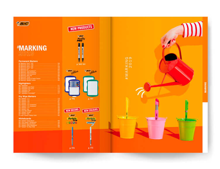Maquette d'un catalogue produit scolaire