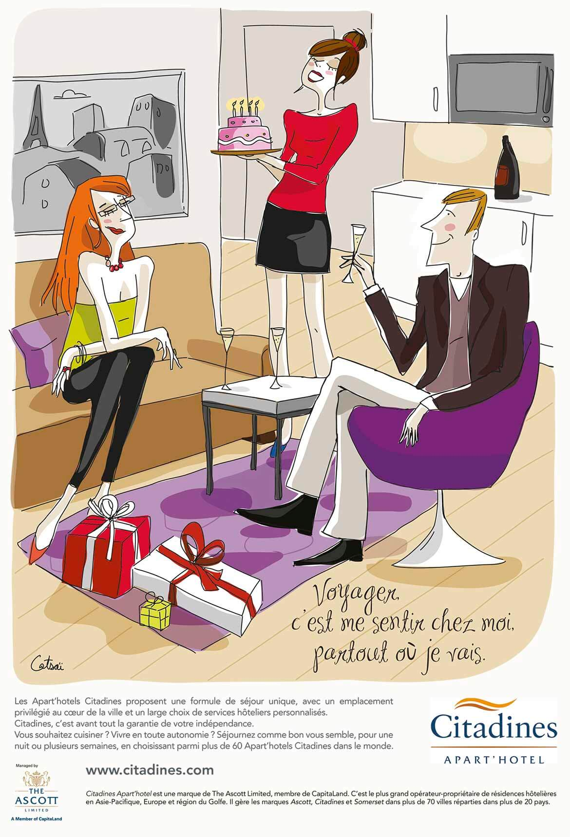 Annonce presse illustration Citadines