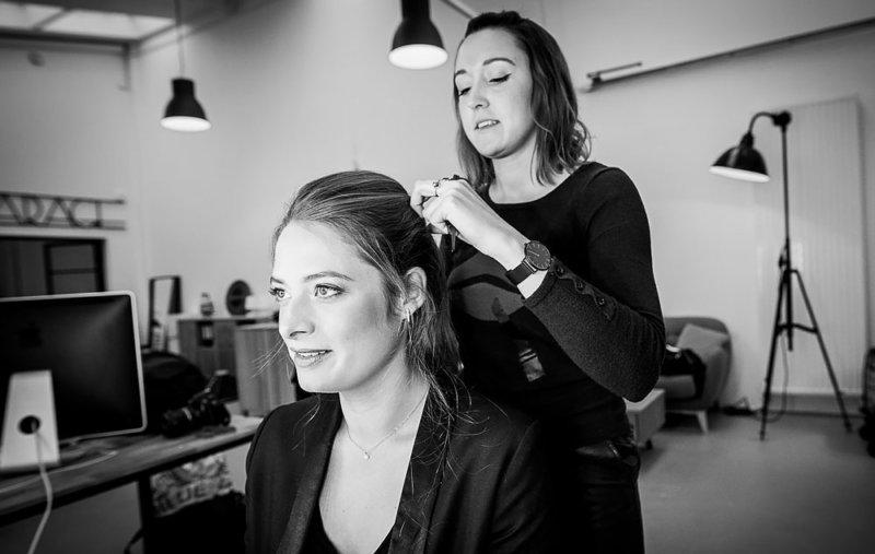 Shooting photo makeup